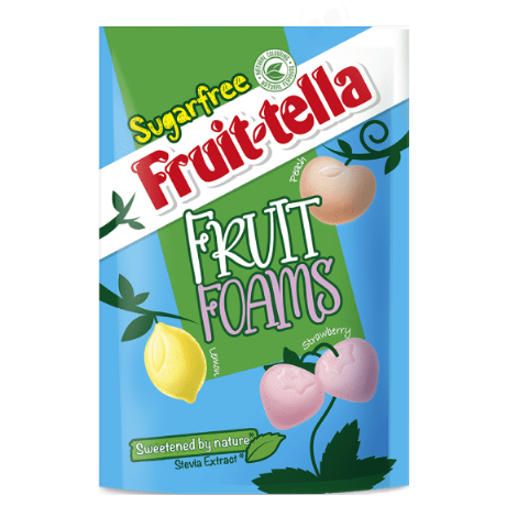 Sugar Free Fruit Foams - Fruittella Stevia Sweets Pouch 80g